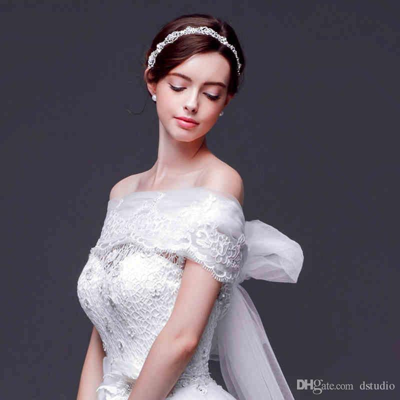 Fairy Long Bridal Wraps Soft tulle with Floral Applique 5.6m Long Wedding Bridal Bolero Jacket Cheap Wedding Accessories