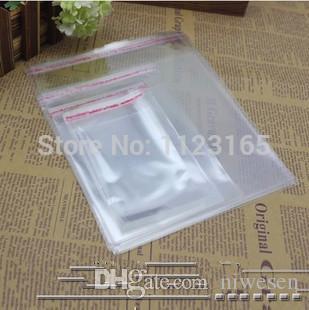 26x35cm 100pz Sacchetto OPP con guarnizione autoadesiva trasparente di grandi dimensioni, sacchetto da imballaggio trasparente ad alta matita, gonna lucency Pacchetto di stoccaggio Sacchetti di plastica