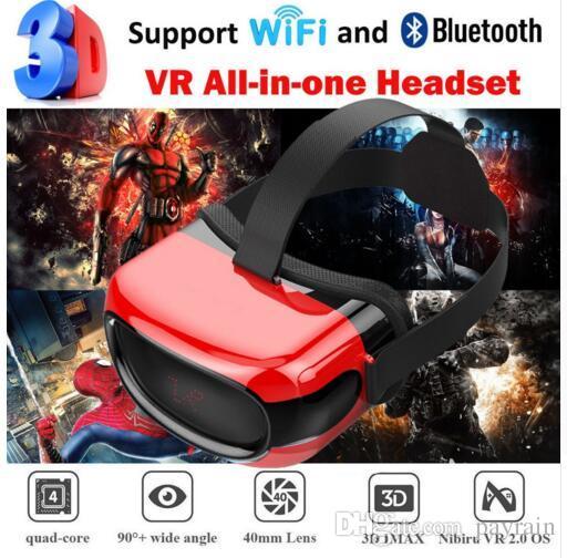 Cawono All in one Box VR per cuffie VR 3D di vetro con Wi-Fi Bluetooth 4.0 Realtà virtuale per smartphone Android xiaomi 5.1