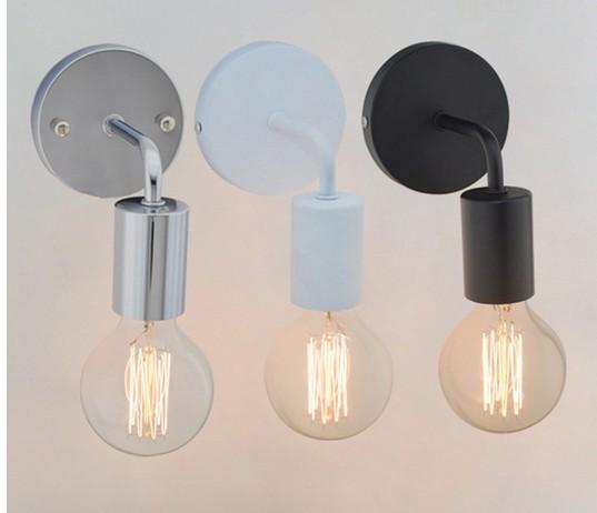 Lámparas de pared de la vendimia Americana Americana Iluminación Industrial Lámparas de la Cama Luces de Pared Para Decoración del Hogar E27 Color Negro / Blanco