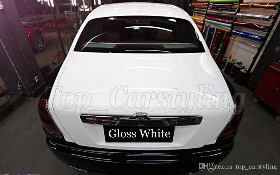 Weiß glänzende Vinylfolie Hochglanzfolie mit 3-Lagen Car-Vinyl-Folienfolie mit Air Release für Car-Wraps