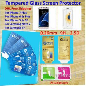 Kağıt Paketi Iphone 7 7 artı Iphone 6 s 6 s artı Temperli Cam Ekran Koruyucu Anti-paramparça Antifingerprint Not 5 Samsung S7 S6 S5 Filmi
