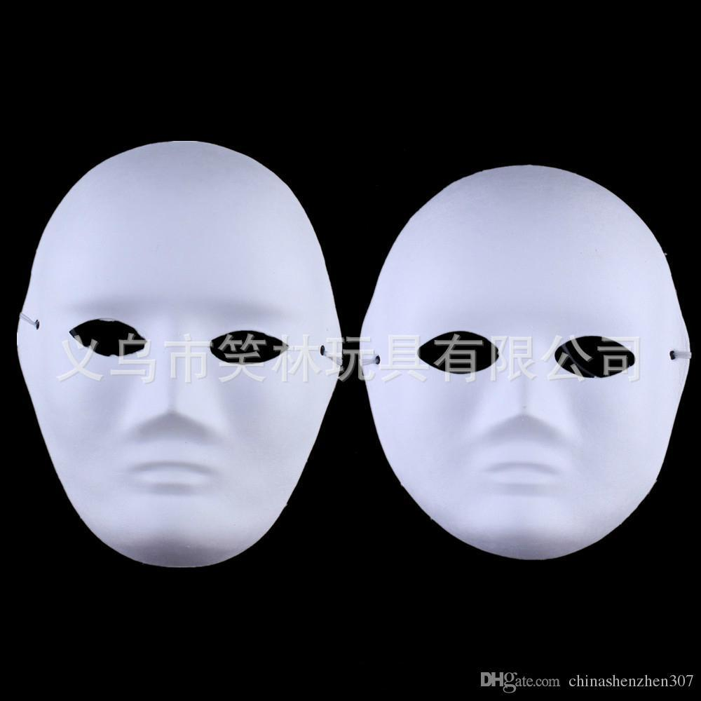 Diy Woman &Man White Face Masks Hand Painted Suit For Halloween ...
