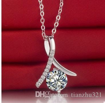 colar de pingente de cristal de ouro nobre de alta qualidade cheia de cadeia 1688 fty