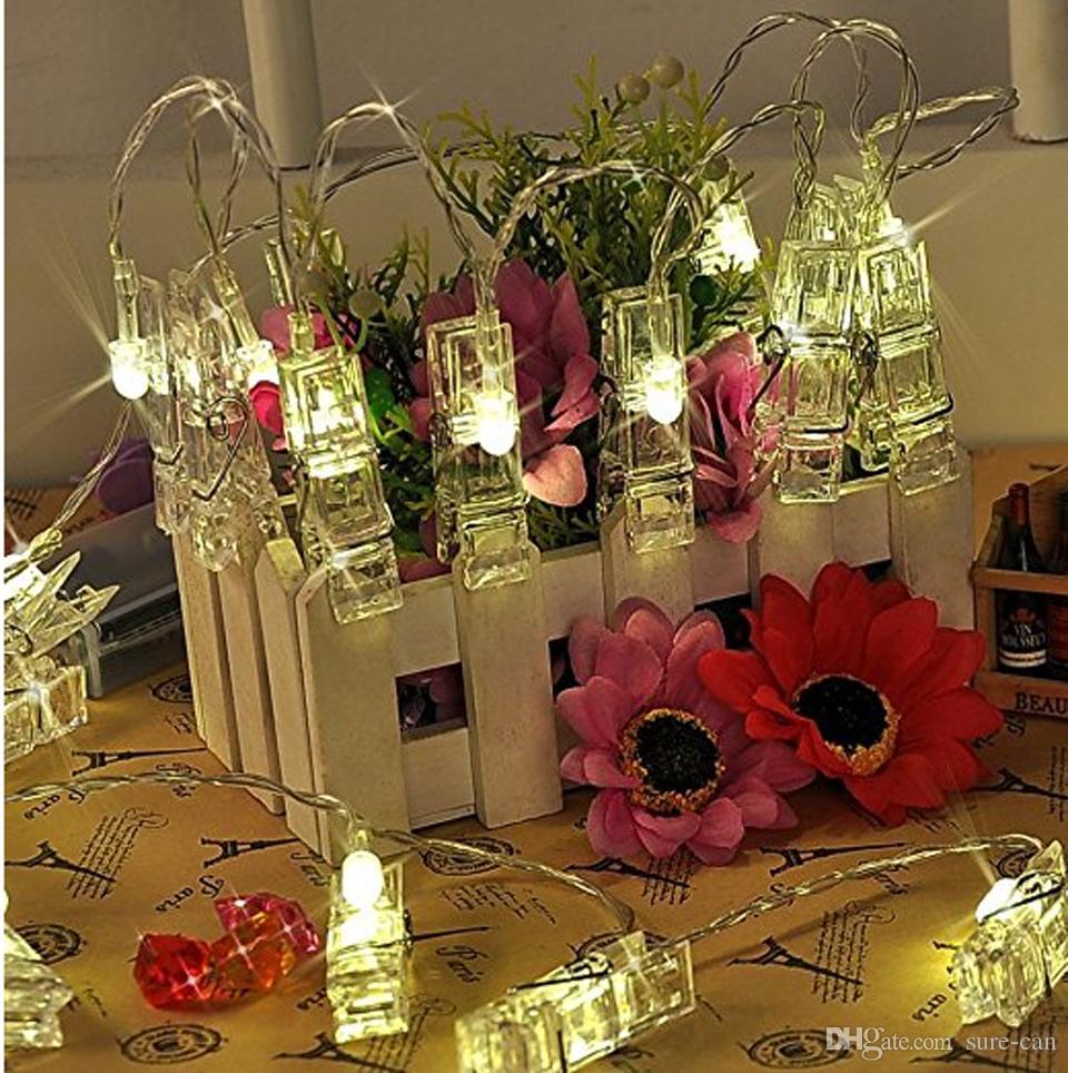 Luci Fai Da Te acquista mini led fai da te foto clip stringa luci a batteria luci di  natale capodanno festa di nozze decorazione della casa 1.2 m 2.2 m 4.2 m  luci