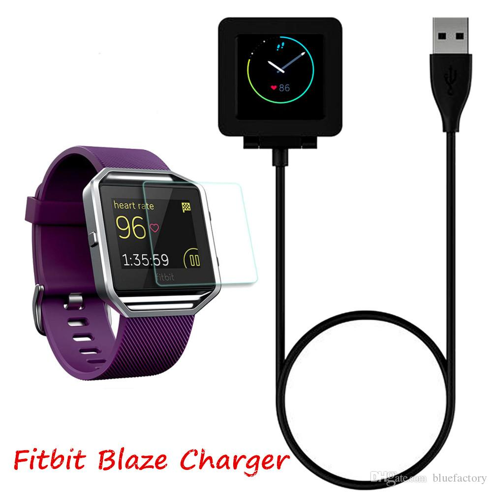 1m 3ft Charging Cable Battery Charger Power Adapter Dock Cradle Cord Wire For Fitbit Blaze Smart Fitness Watch Bracelet Replacement Newest