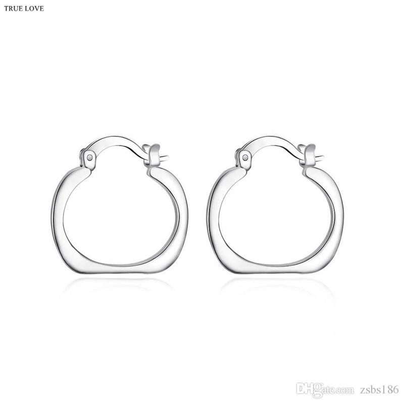 925 silver hoop earrings square fashion jewelry for women diameter 2.0cm personality cool party style Europe Hot free shipping