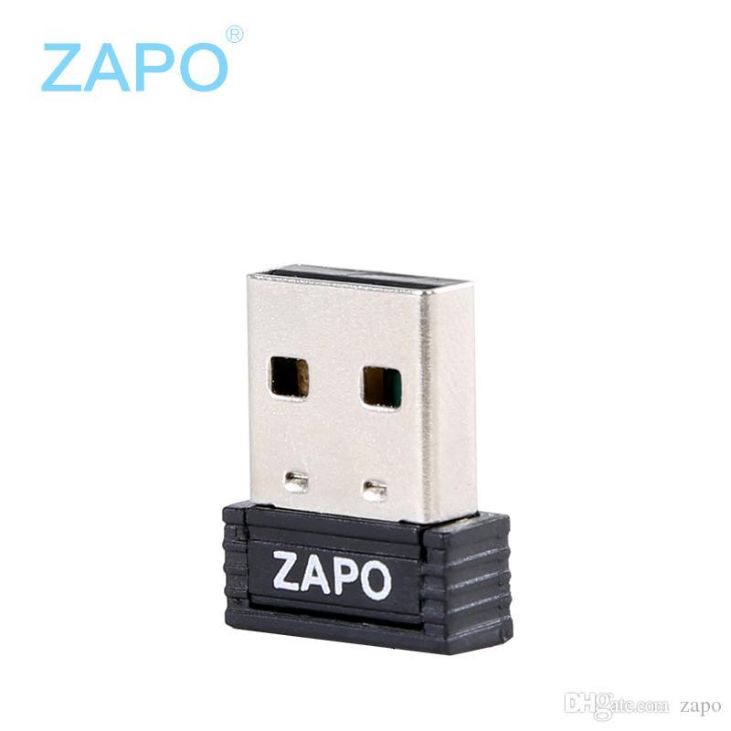 ZAPO العلامة التجارية W4 مصغرة بطاقة شبكة لاسلكية 150M بطاقة شبكة لاسلكية USB مع أجهزة الإرسال WIFI سطح المكتب وأجهزة الكمبيوتر المحمولة