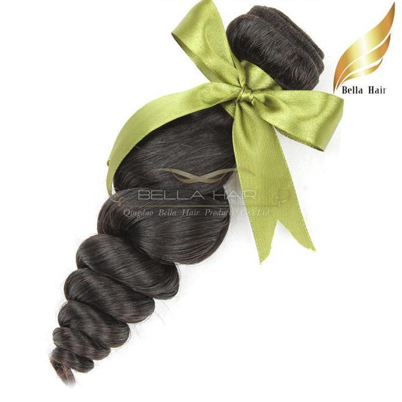 Малайзийский Свободная волна девственные пучки человеческих волос от одного донора 1 или 2 or3pcs / lot естественный цвет двойной утка класса 8A груза падения Bellahair