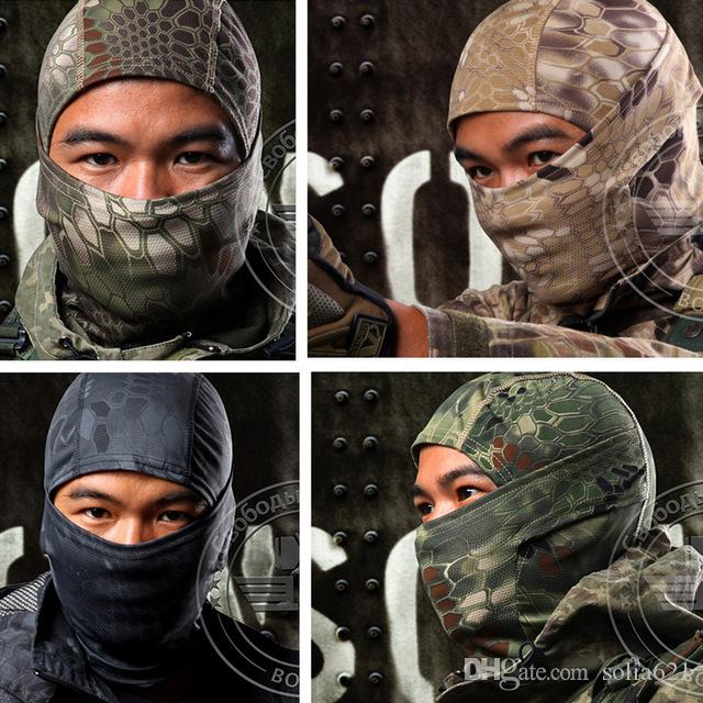 Casco de pasamontañas Transpirable Cascabel Máscara Táctica Máscara Facial Completa Ciclismo Pasamontañas