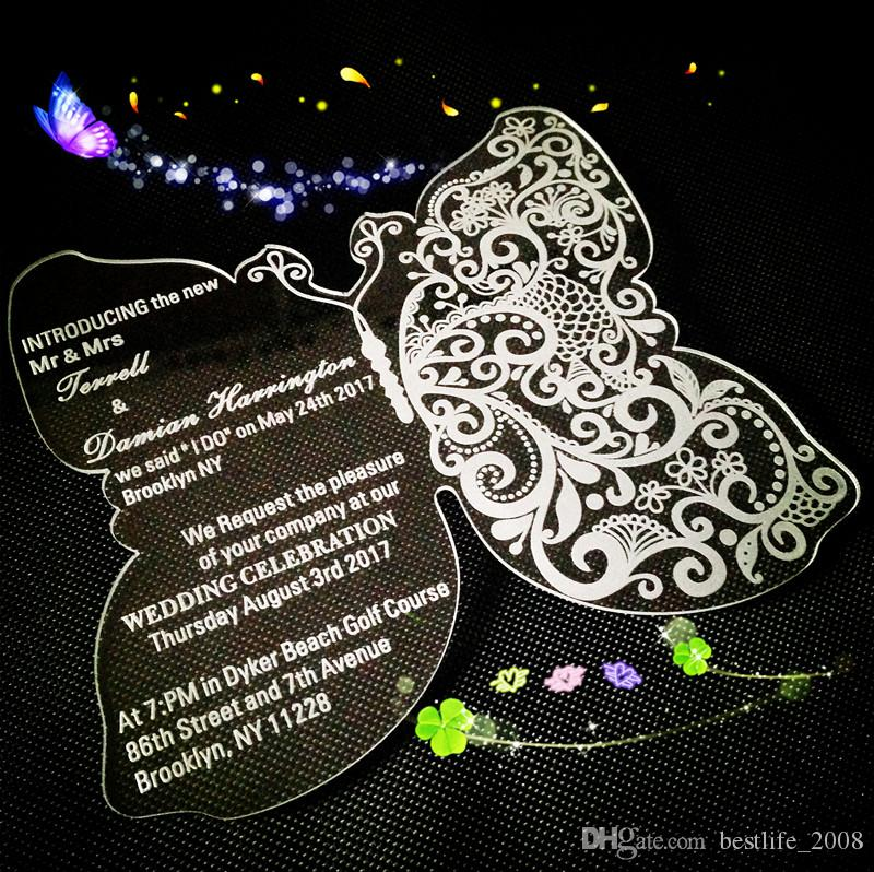 2021 Acrylic Butterfly Wedding Invitations Clear Wedding Invites Acrylic Wedding Invitations Acrylic Clear Invitations Card 5 5x4 5x1 12 From Bestlife 2008 295 48 Dhgate Com