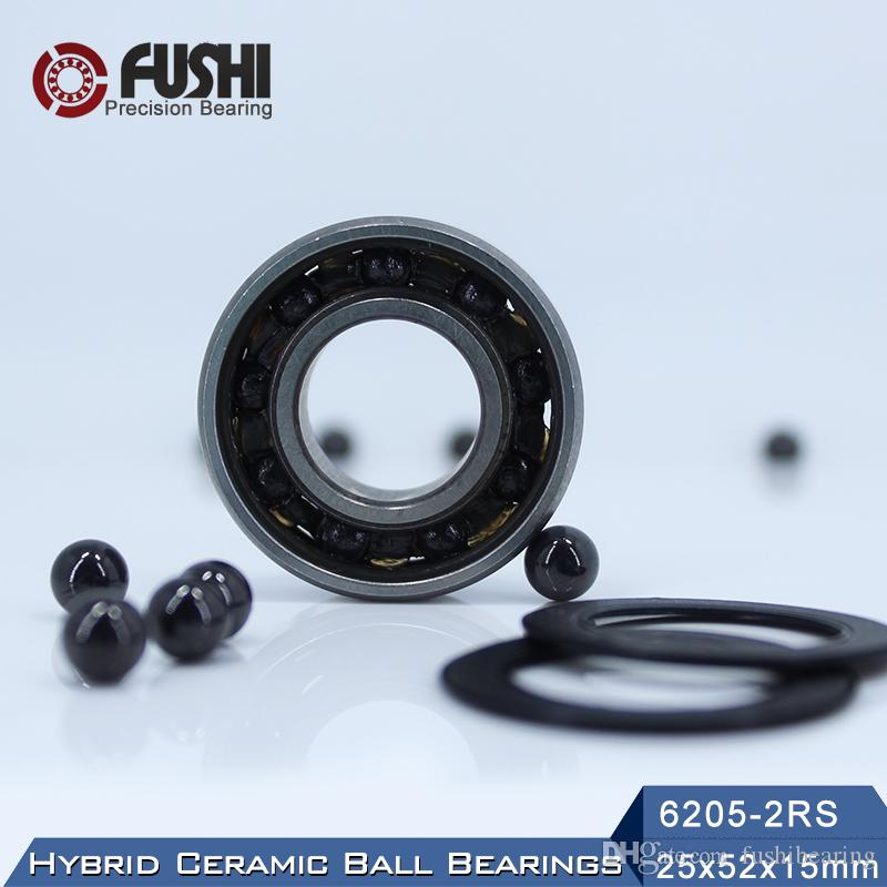 Roulement céramique 6205 hybride axe de moteur ABEC-1 (1 PC) 25 * 52 * 15 mm 6205HC Hybrids Si3N4 roulements à billes 3NC 6205RS