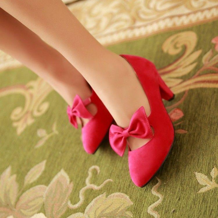 Japan and South Korea custom-made small code sweet low shoes