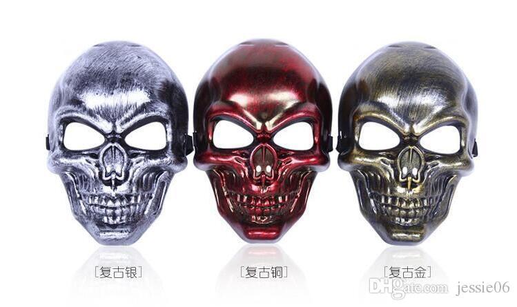 Crâne MASQUE Restauration des anciennes manières Masques tactiques Chasse Halloween Moto En Plein Air Militaire Wargame Paintball Protection Masque DHL 120PCS