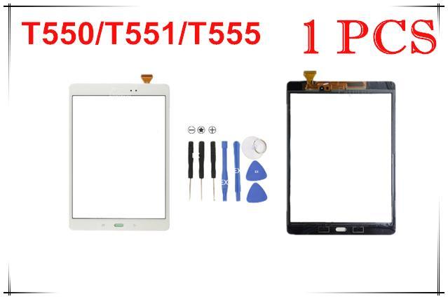 Touchscreen Digitizer Glaslinse mit Klebeband für Samsung Galaxy Tab A 9.7 T550 T551 T555 Tab E 9.6 Zoll T560 1Pcs