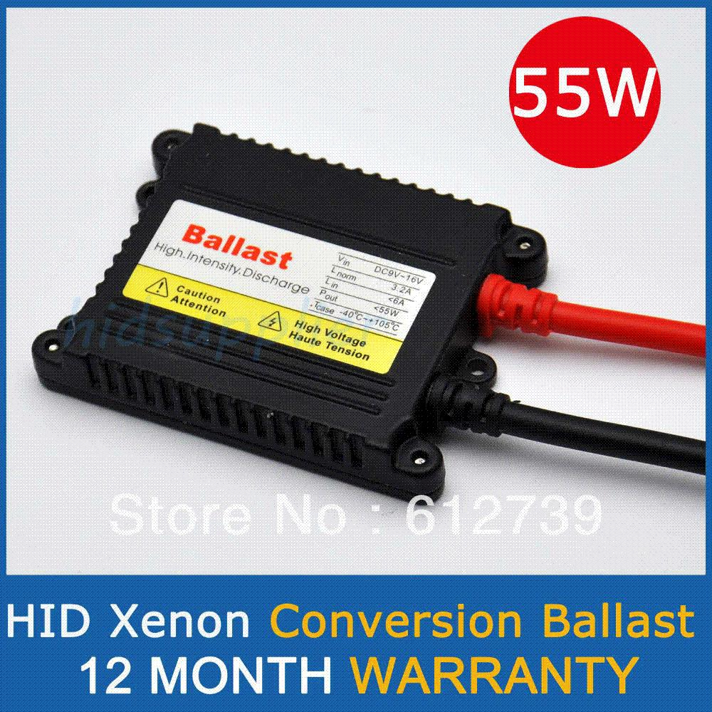 12V 55W SLIM HID Xenon Replacement Electronic Digital Conversion Ballast 12 month warranty ballast case