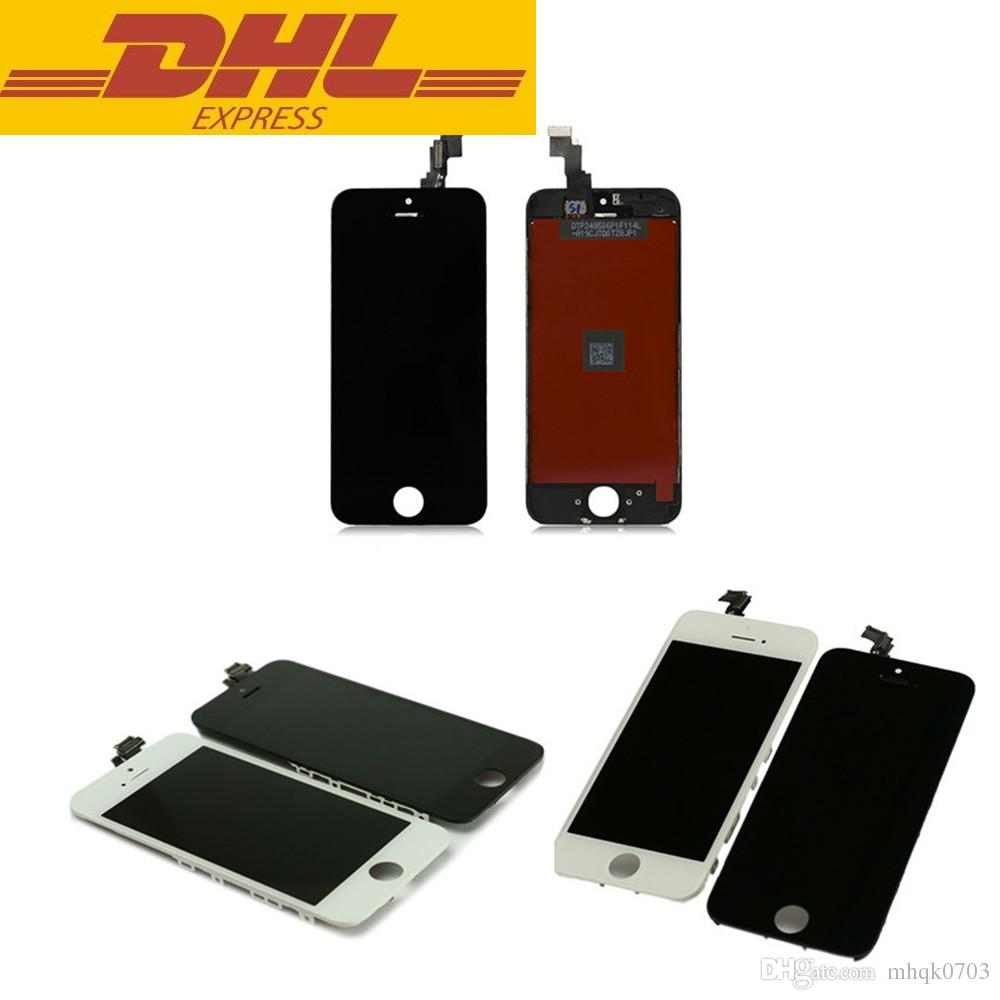 SAVE 10% DHL Free LCD Display For iPhone 5 5G 5C 5S SE Touch Screen Digitizer Complete with Frame Full Assembly Replacement 10pcs