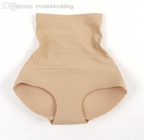 Wholesale-High Waist Padded Seamless Underwear Panties Women Pants Body Shaper Push Up Hips Girdle S-XL