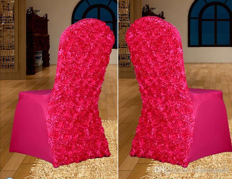 Rosette Stretch Polyester Spandex De Mariage Couvre-Chaise pour Mariages Banquet Hôtel Décoration Décor