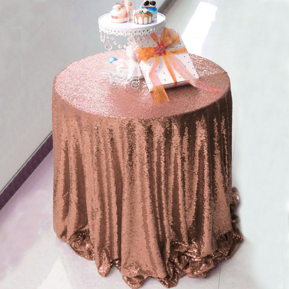 Free Shipping 72inch Casa della copertura rotonda Gold Glitter Sequin Tovaglia Wedding Decorazione della tavola per il banchetto del partito
