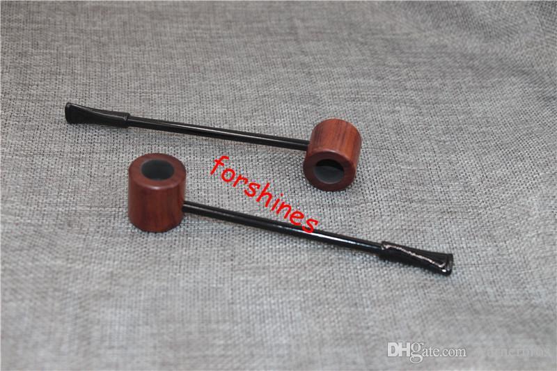 Grado Ebano Tubo di legno Tubi fumatori Pipes Portatile Creativo Tubo di fumo Tubi Herb Tobacco Pipes Regali
