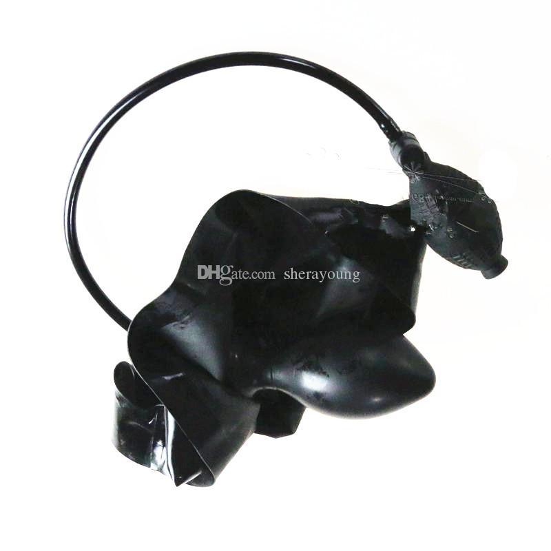 latex hosen mit aufblasbarem butt plug