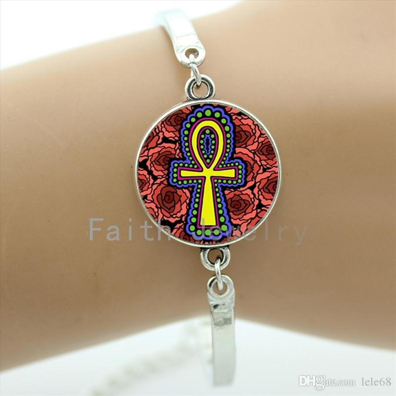 Egyptian Ankh Bracelets Egyptian Ankh Eternal Life Symbol Glass Dome