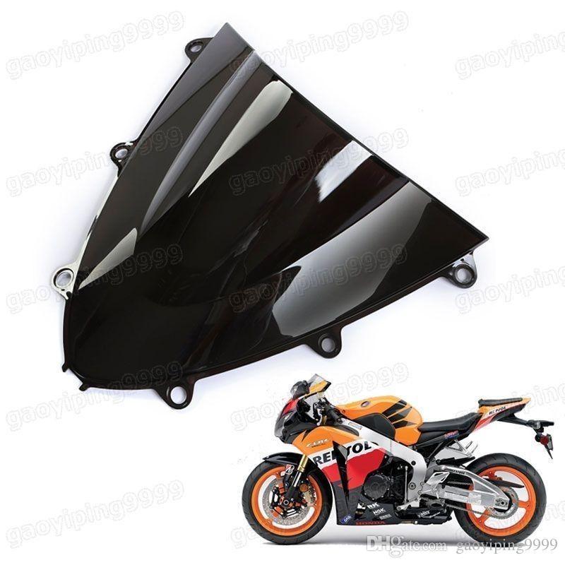 1 Stücke Neue Motorrad Doppel Bubble Windschutzscheibe Verkleidung Windschutzscheibe Objektiv ABS für Honda CBR1000RR 2008-2011 2009 2010