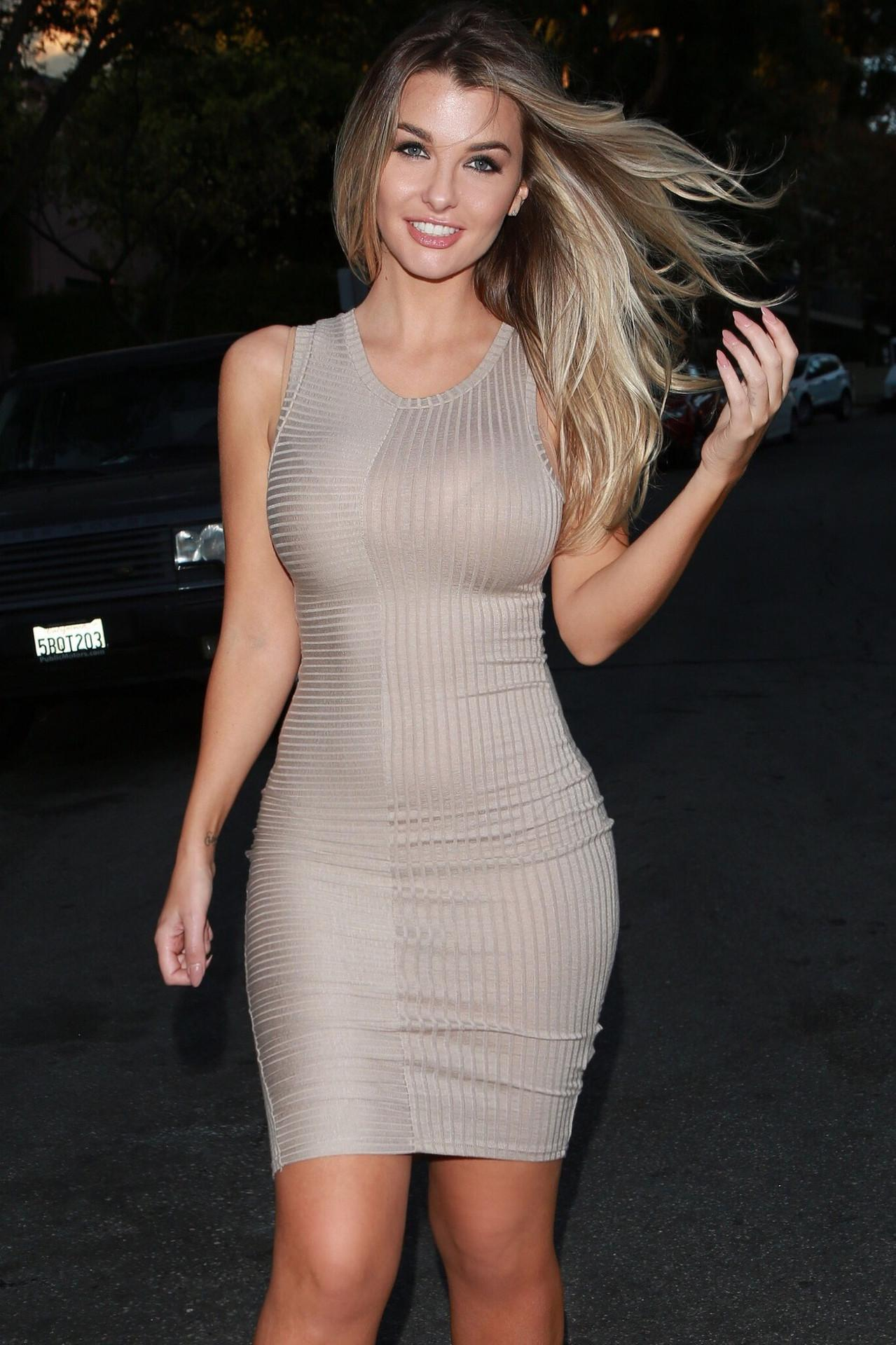 the european and american fashion sexy tight dress/club/vest dress