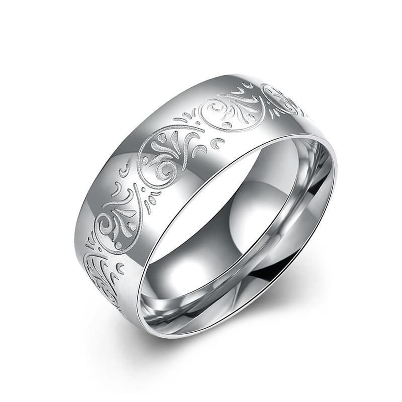 Los hombres calientes de acero inoxidable 316L anillo tallado modelo de compromiso regalo de la manera joyería de marca de calidad superior envío gratis