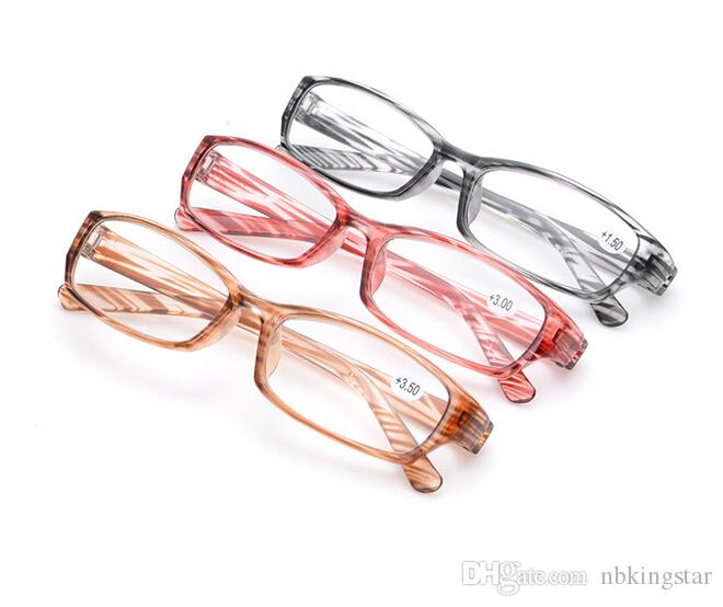 Factory Outlet Fashion PC Rack Glasses Strip Double Dental Reading Glasses HD Resin Glasses + 1.00 + 1.50 + 2.00 + 2.50 + 3.00 +3.50 +4.00 20pcs / Lot