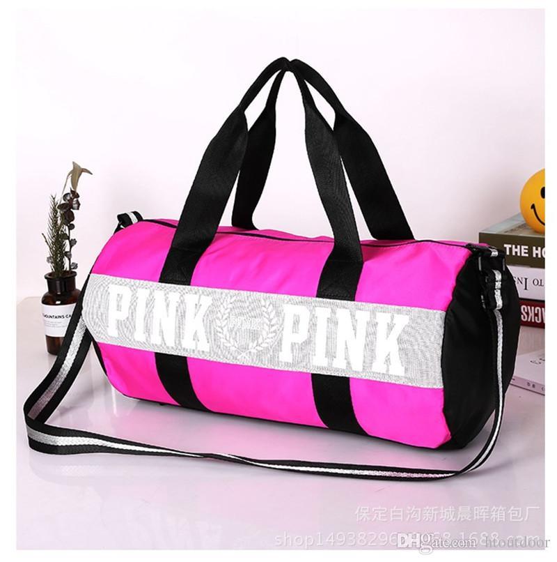 Black Blue Pink Ladies Striped Beach Bag