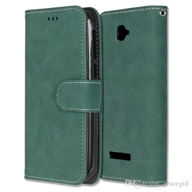 Retro Matte Wallet Leather Case For Alcatel C7 C9 Fierce XL Idol 3 4.7 5.5 inch Pixi 4.0 4.5 Pop 3 5.0 Frosted Cards Stand Phone Cover 50pcs