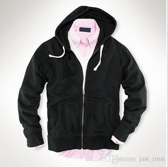Hot sales Autumn warm men pony Golf casual men POLO hoodies cotton zipper sports Sweatshirts US style men cardigan pullover mix order