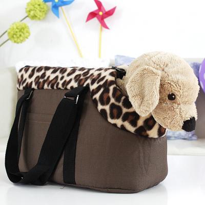 애완 동물 가방 개 캐리어 작은 매체 큰 개 가방, 강아지와 고양이 표범 인쇄 핑크 여행 가방
