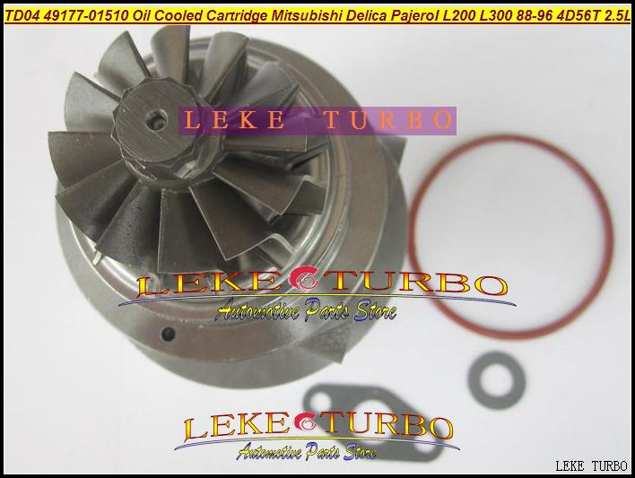 TD04-09B 49177-01510 Oil Cooled Turbocharger Cartridge Turbo Chra Core Mitsubishi Delica Pajero I L200 L300 1988-96 4D56T 2.5L (5)