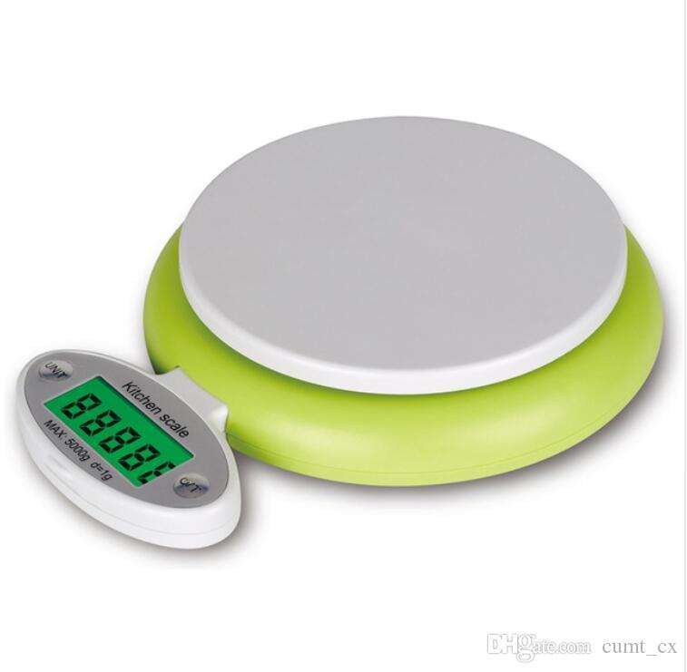 5KG / 1g Eletrônico Cozinha Balança LCD Display Digital Balanças para Fruit Food Ponderação Cozinhar Ferramenta Acessórios de cozinha