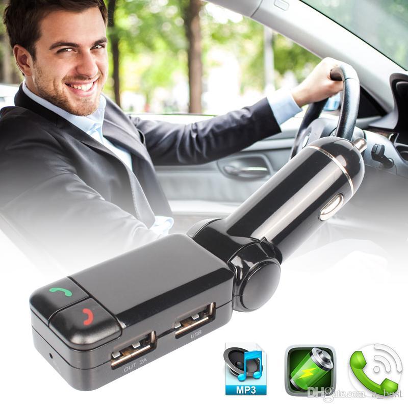 Handsfree BC06 BT Bluetooth Автомобильное зарядное устройство MP3 MP4-плеер Мини двойной порт AUX FM-передатчик адаптер аудиоплеер Car Kit