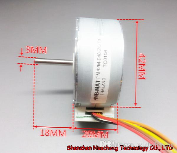 새로운 4 상 5 선식 42mm 스테핑 모터 PM42M-048, 24V 7.5degree, 두께 20mm ~