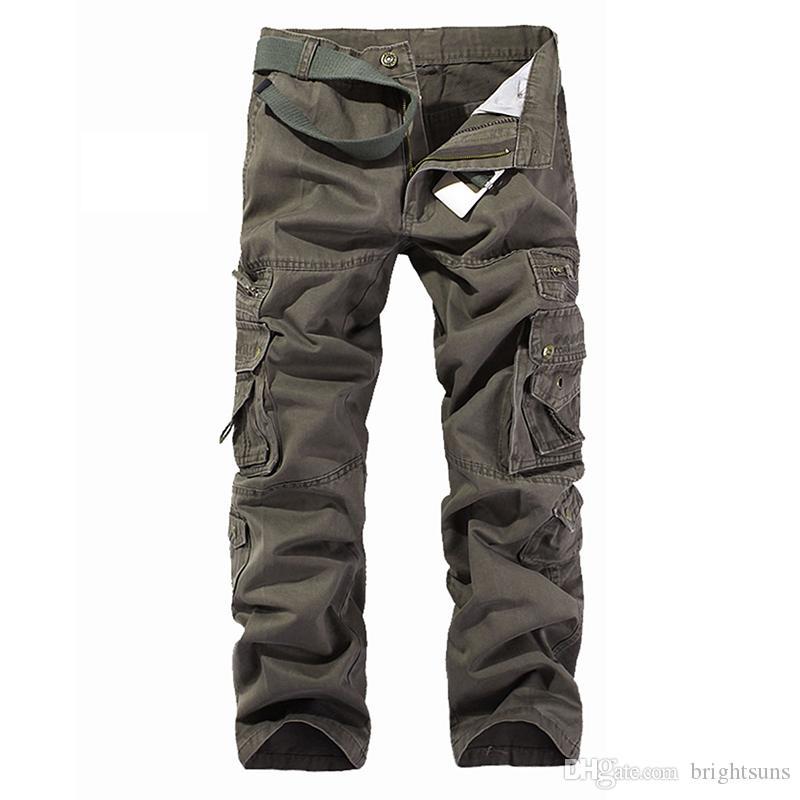 Pantaloni da jogging cargo da uomo di alta qualità militare per uomo multi tasche tasca tattico pantaloni lunghi all'aperto Camouflage moda