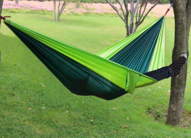 1 pcs frete grátis Parachute 2 pessoas dormindo hammock Caminhadas ao ar livre camping viajar emergência cama de dormir sobrevivência hammock