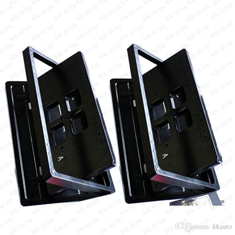 2 plaques / set style américain télécommande de style rétractable cachemin flip plaque d'immatriculation Flipper furtive neuf via DHL / FedEx / UPS