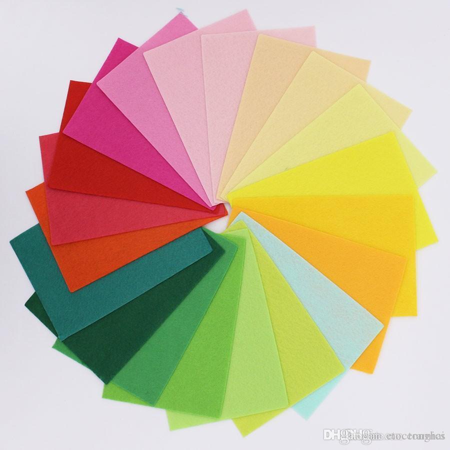 20 * 15CM 40 couleurs polyester acrylique non tissé tissu couture bricolage aiguille couture feutre tissu Fieltro feltro feutrine Artisanat H210504