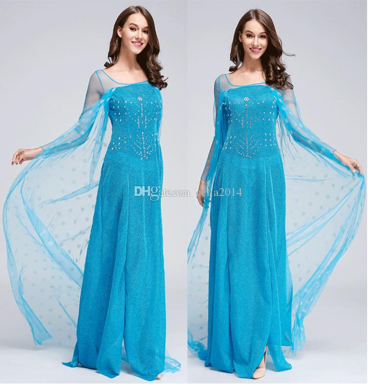 ... 2016 newest Elsa costume frozen princess elsa dress frozen costume adult cosplay halloween costumes for women ...  sc 1 st  DHgate.com & 2016 Newest Elsa Costume Frozen Princess Elsa Dress Frozen Costume ...