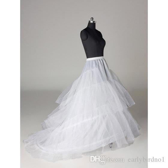 طبقات تول 3 الأطواق ثوب نسائي القرينول لفساتين مع قطار حجم الحرة فساتين الزفاف underscirt تنورة تنورة CPA211
