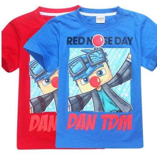 Nouveaux Vêtements pour garçons T-shirts pour enfants Filles Tops Tees Cartoon T-shirts Vêtements pour enfants ROBLOX RED NOSE JOUR Stardust Boy T Shirt