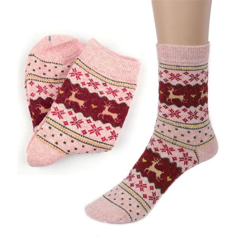 Großhandels-Empfindliches heißes! Weihnachtsrotwild-Entwurfs-beiläufige Knit-Wollsocken warme Winter-Mens-Frauen Ma14