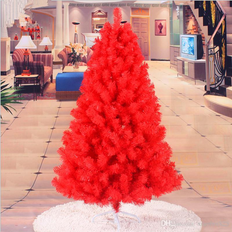 Roter Weihnachtsbaum 1,5 m / 150CM Verschlüsselung Christbaumschmuck Weihnachtsgeschenke Garden Mall