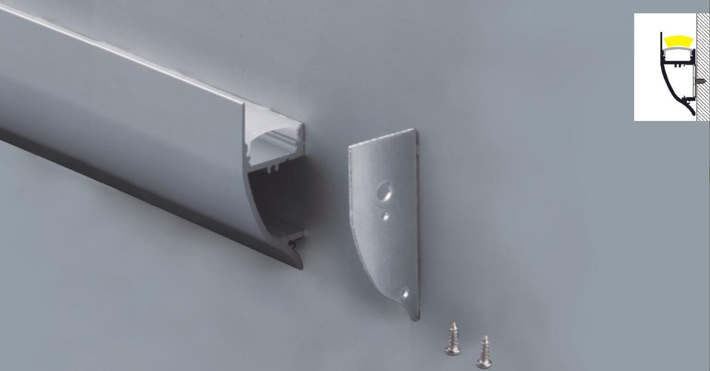 Vendita calda di trasporto del nuovo modello di profilo in alluminio resistente per profilo led per rigida barra LED con diffusore in PMMA per la decorazione di illuminazione