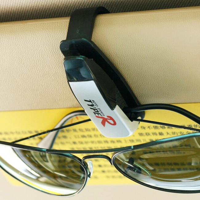 10 pçs / lote preto autofastador de veículos auto óculos de veículos auto Visor Sunglass Olho Óculos de Negócios Bancos de Banco de Bilhete Suporte Clip Suporte